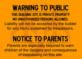 Warning To Public Sign (Quarantine Version) by MrAngryDog
