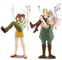 Nyo! Italy and Nyo! Prussia [NOT BY ME] by RP-Romano-and-Italy