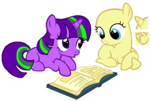 MLP:Reading with Brilliant (Open Collab) by kiananuva12