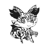 pokemon Gen 6 Start Fennekin -Tribal Tattoo Style by dragonfire53511