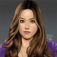 Digital Photo Painting 3 (Video - Chloe Bennet) by ronggo