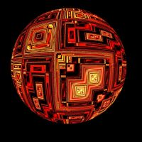 RED TECHNICAL FRACTAL ORB by Voyager-I