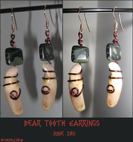 Bear Earrings by TheScreamingNorth