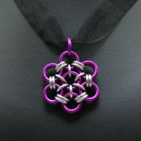 Purple Japanese Flower Pendant by Utopia-Armoury