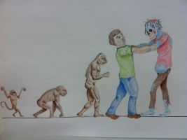 Evolution of man. by MaskedRascal