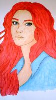 Girl with red hair by christina177