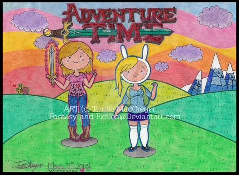 Adventure time with Brookie and Fionna by Fantasy-and-Fiction