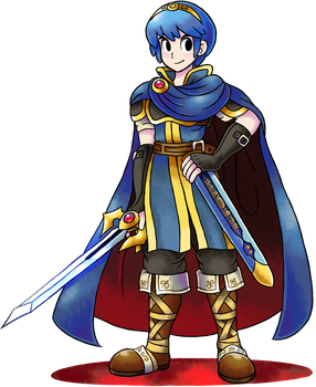 ''Mario+Luigi'' RPG Style: Marth (Fire Emblem) by Master-Rainbow