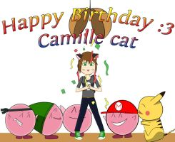 Happy birthday camille cat by Mangamaster247