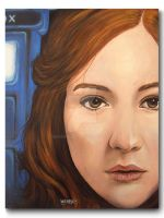 Karen Gillan Dr Who Canvas by RavenMedia