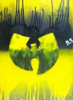 Wu Tang Logo Spray Paint by sampson1721
