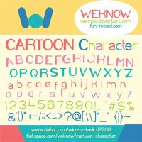 cartoon character font by weknow by weknow