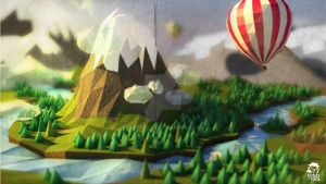 Low poly landscape by conzitool