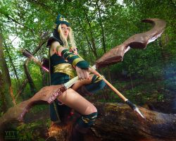 Sherwood Forest Ashe: All the world on one arrow by Hanuro-Sakura
