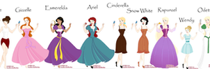 Peasant Princesses rare girls by purplepricklypear3