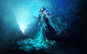 ice cold blue by oione