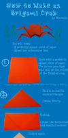 Origami Crab Tutorial by Nitonale