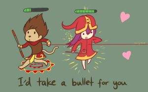 I'd Take A Bullet For You - LoL Valentines Card by Cherrycake4
