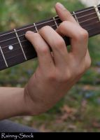 Guitar and hand- STOCK by Rainny-Stock