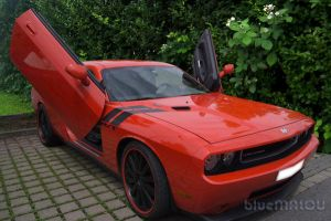 Orange Dodge Challenger by blueMALOU
