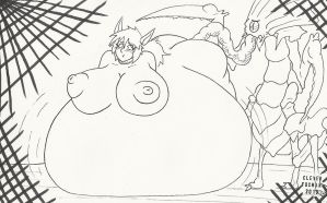 Fantasy Star Inflation/Pregnancy by CleverFoxMan