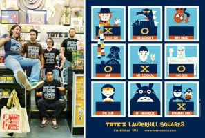 Tates Comics Shirt by Montygog