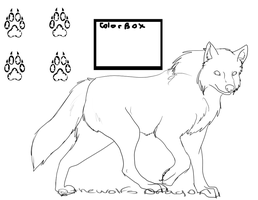 free wolf line art. read rules by TWDAdoptables