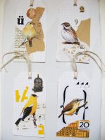 yellow bird collage tags 1 by tabithaemma