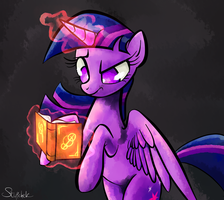 Twilight Sparkle magic spell. by Stupchek