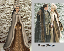 Anne Boleyn Winter gown by msbrit90
