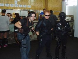 Leon S. Kennedy,wesker and soldier of umbrella by nemesisdarkside