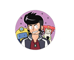 Space Dandy Button by WaywardDoodles