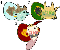Knight Hatchling Adoptables: CLOSED by Xeohelios
