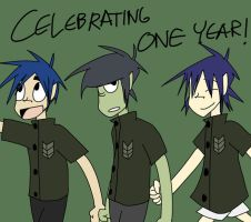 Celebrating one year by Vey-kun