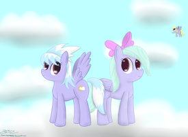 Cloudchaser and Flitter by MikorutheHedgehog