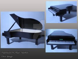 Papercraft Traditional Piano by Seathon