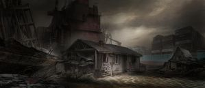 Commission: Ramshackle by The Beach by TitikAwalCreative
