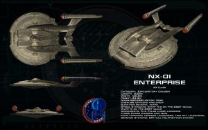 NX class ortho - NX-01 Enterprise (Updated) by unusualsuspex