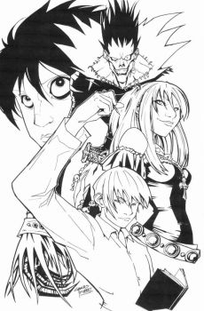 sketchy : Death Note by KidNotorious