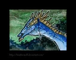 Aceo-trade with VentralHound by HeatherWolf