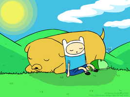 Adventure Time - Nap Time by dcheeky-angel