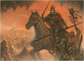 The Deathly Entourage of King Valdos of Tekhannis by davidmichaelwright