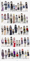All my Naruto oc's by Hebi-no-Majo