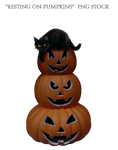 Resting on Pumpkins  PNG STOCK by KarahRobinson-Art