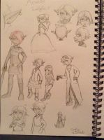 Aralia Character Designs by ravenviolet777