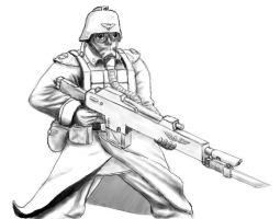 Death Korps Trooper by Stossetruppe