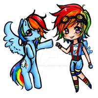 Rainbow Dash by MoeMocha