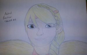 Astrid Practise Sketch #1-coloured by Shadowphonix11