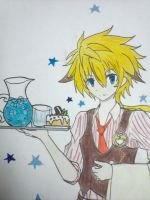 Chung the Elsword Cafe Waiter ! by Mewtwosama10299