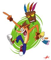 Crash Bandicoot by Slurple